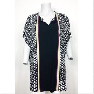 Liz Claiborne Tunic Top Sz XL Drop Shoulder Blouse